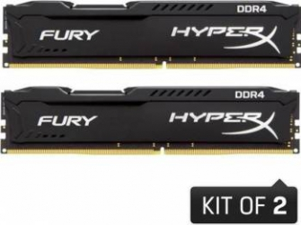 Kit Memorie Kingston HyperX Fury Black 2x8GB DDR4 2133MHz CL14 1.2v Dual Channel Memorii