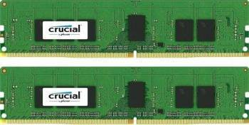 Kit Memorie Server Crucial 2x4GB DDR4 2400MHz CL17 Single Rank x8 Dual Channel