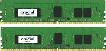 Kit Memorie Server Crucial ECC UDIMM 2x4GB DDR4 2133MHz CL15 Single Rank x8 Memorii Server