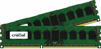 Kit Memorie Server Crucial ECC UDIMM DDR3 2x8GB 1600MHz CL11 Dual Rank x8 Low-Voltage Memorii Server