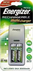 Kit Nikon Energizer Mini Charger 2AA 2000mAh Acumulatori Baterii Incarcatoare