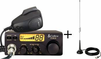 Kit statie radio auto CB Cobra 19 DX IV EU si Antena Cobra HGA1000 Statii radio