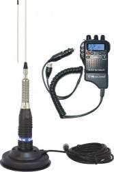 Kit Statie radio CB Midland Alan 52 si Antena CB Midland ML145 cu magnet