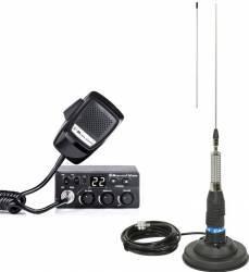 Kit Statie Radio CB Midland M Zero Plus + Antena Midland ML145 cu Magnet Statii radio