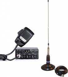 Kit Statie Radio CB Midland M Zero Plus + Antena PNI ML160 cu Magnet