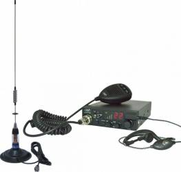 Kit Statie radio CB PNI ESCORT HP 8001 ASQ Casti HS81 Antena CB PNI ML70 Statii radio