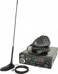 Kit Statie radio CB PNI Escort HP 8024 AS cu Antena CB PNI Extra 45 Statii radio