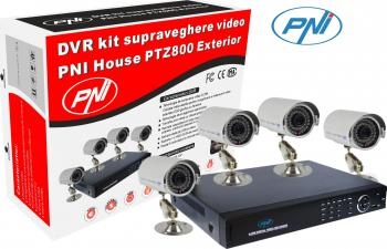 Kit Supraveghere PNI House PTZ800 DVR + 4 Camere exterior