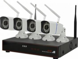 Kit supraveghere video PNI House WiFi 400 NVR 4 camere wireless 1.0MP