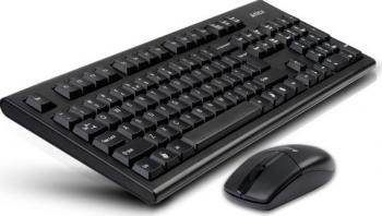 Kit Tastatura + Mouse A4Tech Wireless V-Track Desktop USB Tastaturi