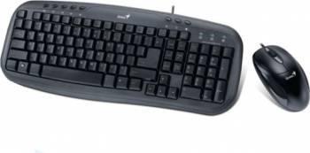 Kit Tastatura + Mouse Genius KM-210 USB Black Tastaturi
