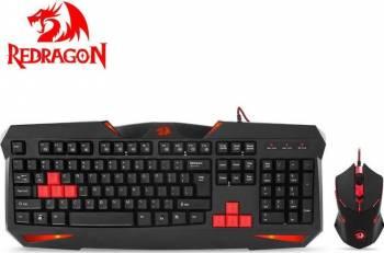 Kit Tastatura + Mouse Redragon Vajra + Centrophorus Tastaturi Gaming