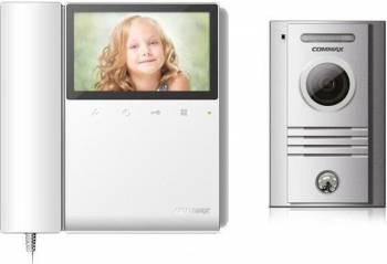 Kit videointerfon color Commax ECO SET N format din monitor LCD 4.3 inch CDV-43K2 Videointerfoane