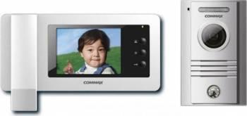 Kit videointerfon Commax ECO SET format din monitor LCD 4.3inch LED CDV-43N si camera DRC-4MC Videointerfoane