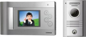 Kit videointerfon Commax ECO SET-H format din monitor LCD 4.3inch LED CDV-43Q hands-free si camera DRC-4MC Videointerfoane