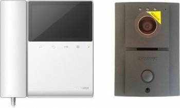 Kit Videointerfon Commax format din monitor LCD 4.3 inch CDV-43K si camera DRC-4L Videointerfoane