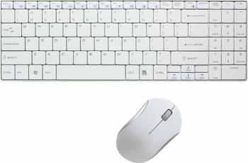 Kit Wireless Tastatura+Mouse LogiLink ID0109 Alb Tastaturi