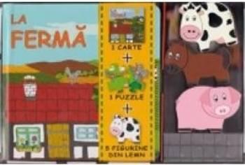 La Ferma - 1 Carte + 1 Puzzle + 5 Figurine Din Lemn