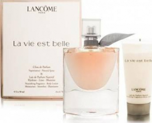 Apa de Parfum La Vie Est Belle 50ml + Body Lotion 50ml by Lancome Femei 50ml+50ml Parfumuri de dama