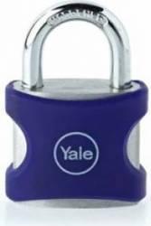 Lacat Aluminiu Cu Cheie Yale YE3251121BL 25mm Albastru Seifuri Lacate Feronerie