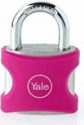 Lacat Aluminiu Cu Cheie Yale YE3251121P 25mm Roz Seifuri Lacate Feronerie