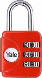 Lacat cu cifru Yale YP1281211 28mm Rosu