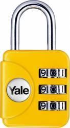 Lacat cu cifru Yale YP1281211 28mm Galben