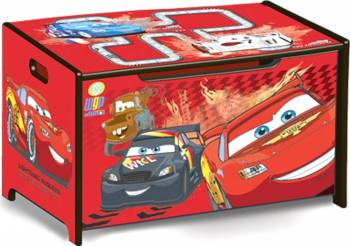 Ladita din lemn pentru depozitare jucarii Disney Cars Mobila si Depozitare jucarii