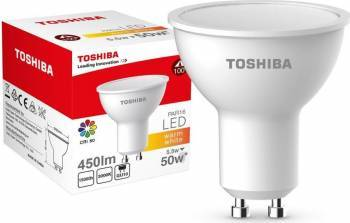 Lampa  LED TOSHIBA PAR16 | 5,5W (50W+) 450lm 3000K 80Ra ND 120D GU10 Becuri