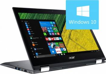 Laptop 2in1 Acer Spin SP513-52N-5684 Intel Core Kaby Lake R i5-8250U 256GB 8GB Win10 FullHD Grey Laptop laptopuri