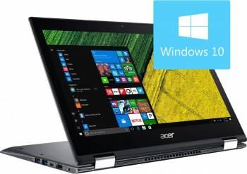 Laptop 2in1 Acer Spin SP513 Intel Core Kaby Lake R(8th Gen) i5-8250U 256GB 8GB Win10 FullHD Grey Laptop laptopuri