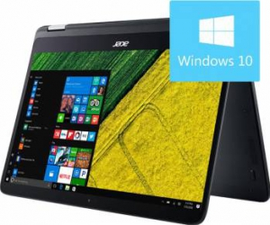 Laptop 2in1 Acer Spin SP714 Intel Core Kaby Lake R(8th Gen) i7-8550U 256GB 8GB Win10 FullHD Steel Gray Laptop laptopuri