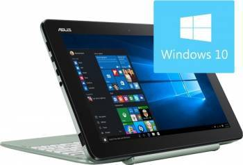 Laptop 2in1 Asus Transformer Book T101HA Intel Atom x5-Z8350 64GB 2GB Win10 WXGA Mint Green laptop laptopuri