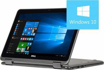 Laptop 2in1 Dell Inspiron 3168 Intel Pentium N3710 128GB 4GB Win10 HD Grey Laptop laptopuri