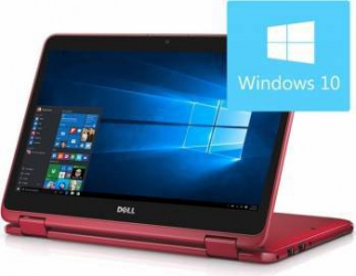 Laptop 2in1 Dell Inspiron 3168 Intel Pentium N3710 128GB 4GB Win10 HD Red Laptop laptopuri