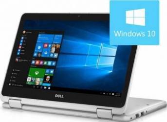 Laptop 2in1 Dell Inspiron 3168 Intel Pentium N3710 128GB 4GB Win10 HD White Laptop laptopuri