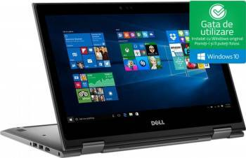 Laptop 2in1 Dell Inspiron 5378 Intel Core Kaby Lake i3-7100U 1TB 4GB Win10 FullHD Touchscreen Laptop laptopuri