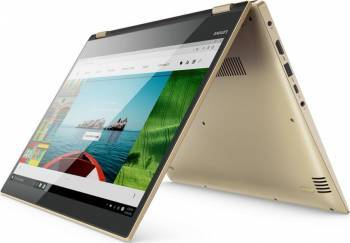 Laptop 2in1 Lenovo Yoga 520-14IKB Intel Core i7-7500U 1TB 8GB Win10 FullHD Gold Laptop laptopuri