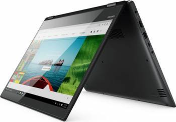 Laptop 2in1 Lenovo Yoga 520 Intel Core i3-7130U 1TB HDD+128GB SSD 8GB FullHD Touch Onyx Black Laptop laptopuri