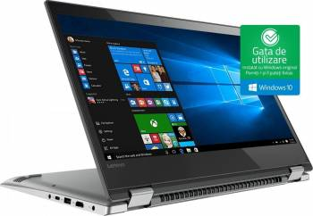 pret preturi Laptop 2in1 Lenovo Yoga 520 Intel Core i3-7130U 1TB HDD+128GB SSD 8GB Win10 FullHD Touch Gri