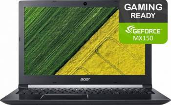 Laptop Acer Aspire 5 A515 Intel Core Kaby Lake R(8th Gen) i7-8550U 1TB 4GB nVidia GeForce MX150 2GB FullHD Silve Laptop laptopuri