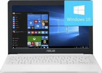 Laptop Asus Vivobook E12 Intel Celeron N3350 32GB 4GB HD Win10 Pearl White Laptop laptopuri