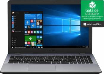 Laptop Asus Vivobook 15 X542UA Intel Core Kaby Lake i3-7100U 500GB 4GB Win10 Pro FullHD Grey Laptop laptopuri