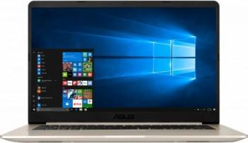Laptop Asus VivoBook S15 S510UA-BQ431 Intel Core Kaby Lake R 8th Gen i5-8250U 256GB 4GB Intel HD 620 Endless FullHD Gol Laptop laptopuri