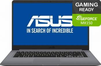Laptop Asus VivoBook S15 S510UN Intel Core Kaby Lake R(8th gen) i5-8250U 1TB 4GB nVidia GeForce MX150 2GB FullHD Gri Laptop laptopuri