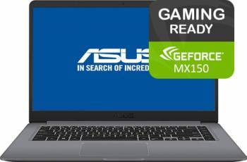 Laptop Asus VivoBook S15 S510UN Intel Core Kaby Lake R(8th Gen) i5-8250U 1TB 8GB nVidia GeForce MX150 2GB FullHD Gri Laptop laptopuri