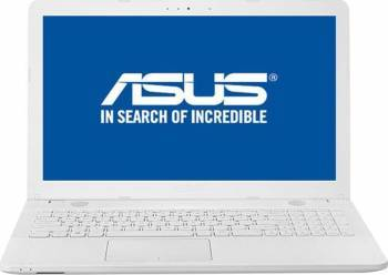 Laptop Asus VivoBook X541UA Intel Core i3-6006U 2.0GHz 500GB 4GB DDR4 DVDRW HD Alb Laptop laptopuri