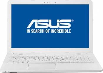 Laptop Asus VivoBook X541UA Intel Core Kaby Lake i3-7100U 500GB 4GB Endless HD White Laptop laptopuri
