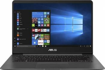 Ultrabook Asus ZenBook UX430UN Intel Core Kaby Lake R 8th Gen i7-8550U 256GB 16GB nVidia 150MX 2GB Win10 FullHD FPR Gri Laptop laptopuri