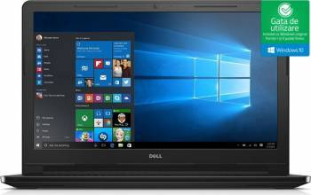 Laptop Dell Inspiron 3552 Intel Celeron N3060 500GB 4GB Win10 HD Laptop laptopuri